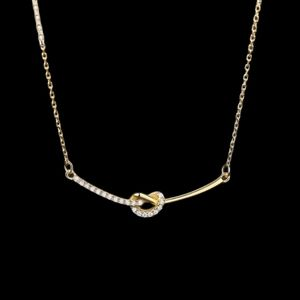 14K Gold-Plated Knot Necklace